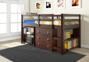 full size loft bed with desk